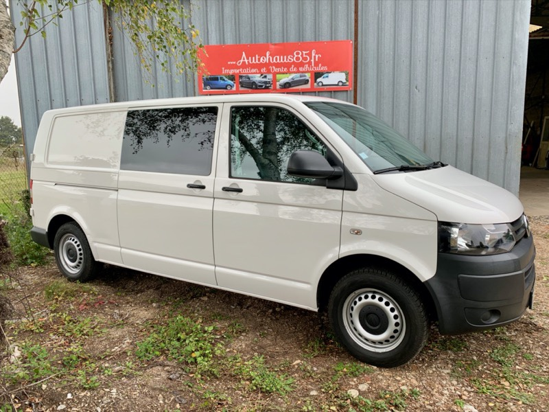 VENDU : VW Transporter T5.1 2.0TDI, 6places L2H1 (long)  +clim – 17 450 €ht